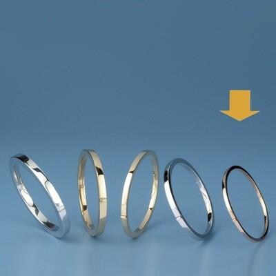 Bangles Oval shape - square tube MC 261