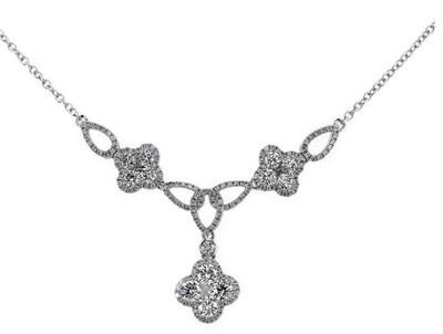 Gregg Ruth Cloverleaf Diamond Necklace