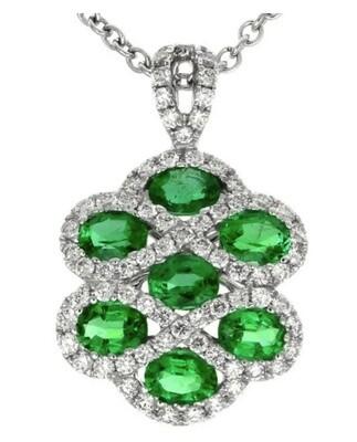 Gregg Ruth 18KT Emerald Diamond Pendant