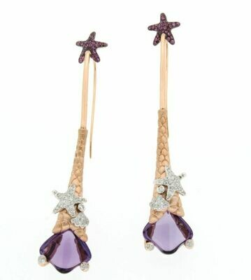 Mermaid Amethyst Earrings