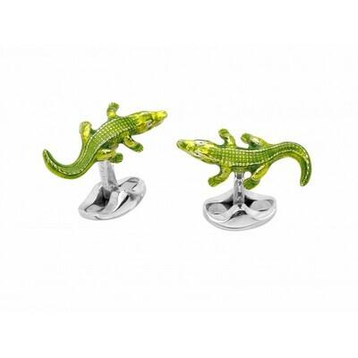 Sterling Silver Crocodile Cufflinks