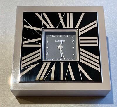 Cartier Roman Numerals Decor Desk Clock