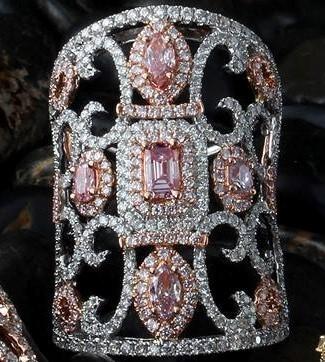 Pink & White Diamond