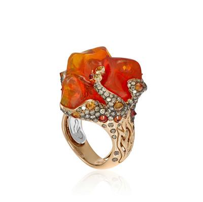 Lava Fire Opal