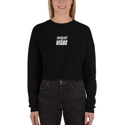 BNV Women's Black Crop Sweatshirt