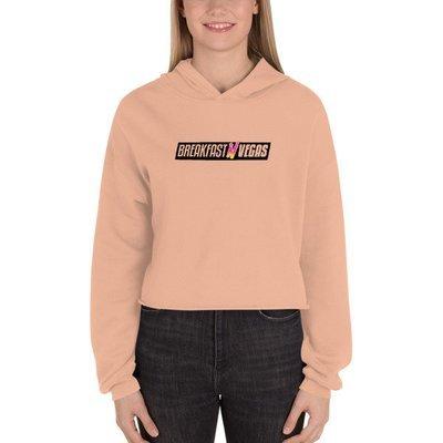Women's Peach BNV Crop Hoodie