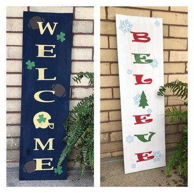 Reversible Porch Sign - Easy Customization to fit your interests and needs