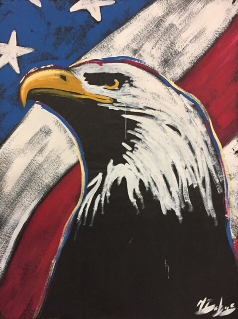 Eagle with Flag (Profile) Practice Piece