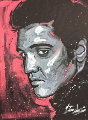 Elvis Presley (Original on Black Paper)
