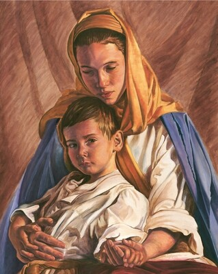 Mary with the Christ Child Art Print