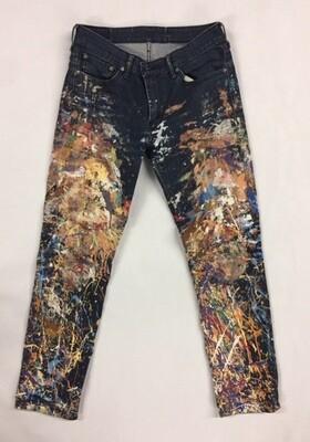 Men's 511 Levi Jeans w/Paint Splatter