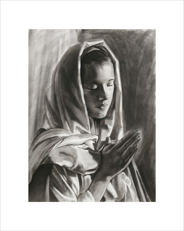 Mary Praying Art Print