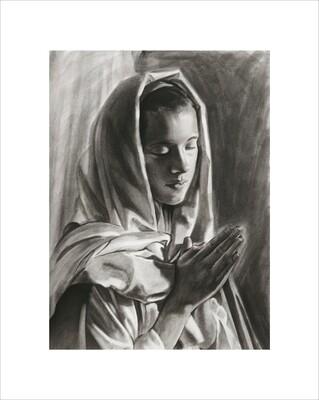 Mary Praying Print