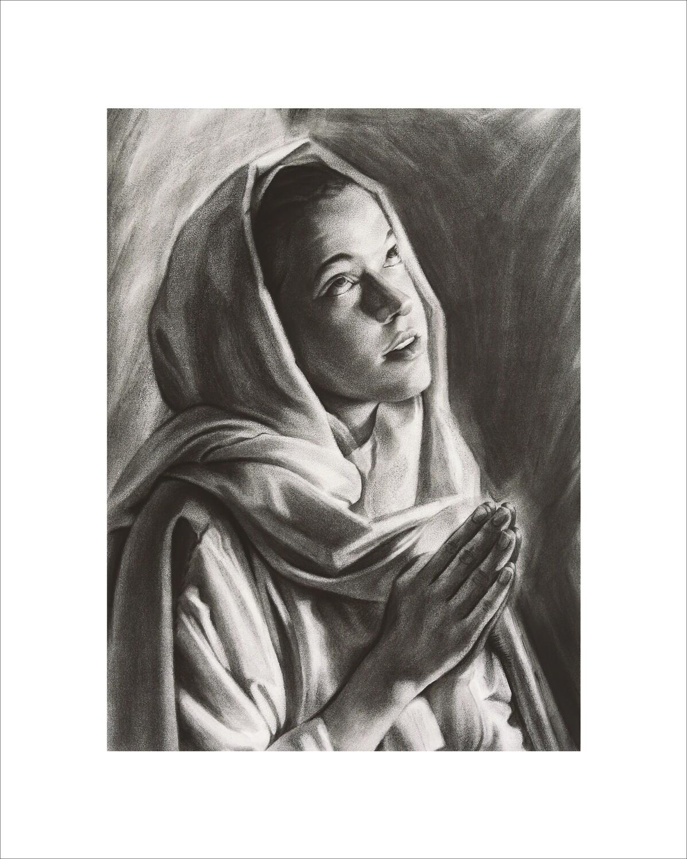 Mary Gazing Art Print