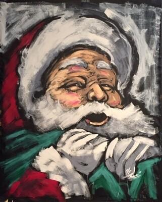 Santa Claus (Original  on CANVAS)