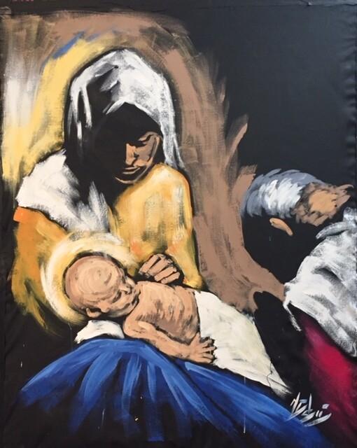 The Nativity (Original  on CANVAS)