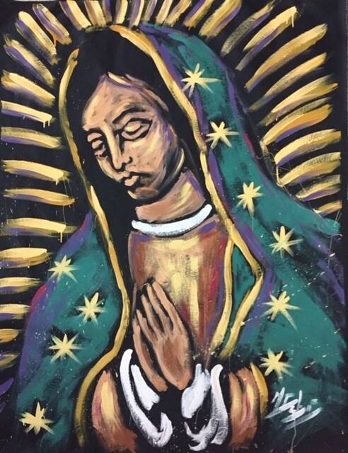 Our Lady of Guadalupe (Original  on CANVAS)