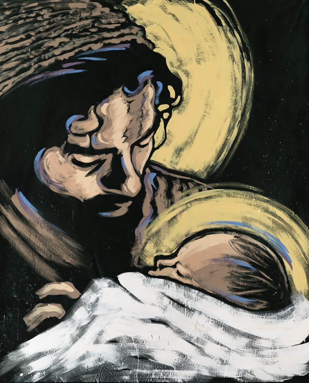 St. Joseph with Christ Child Art Print