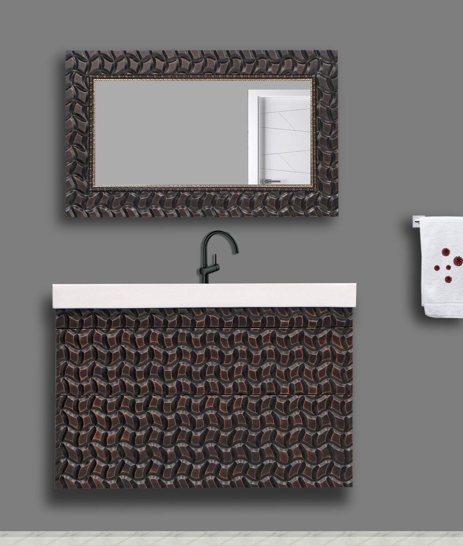 Комплект для ванной комнаты с фрезерованным 3d фасадом Plain