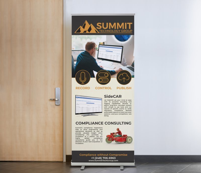 SideCAR Retractable Banner