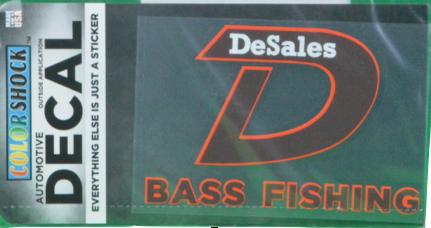 """D"" Bass Fishing Decal-763"