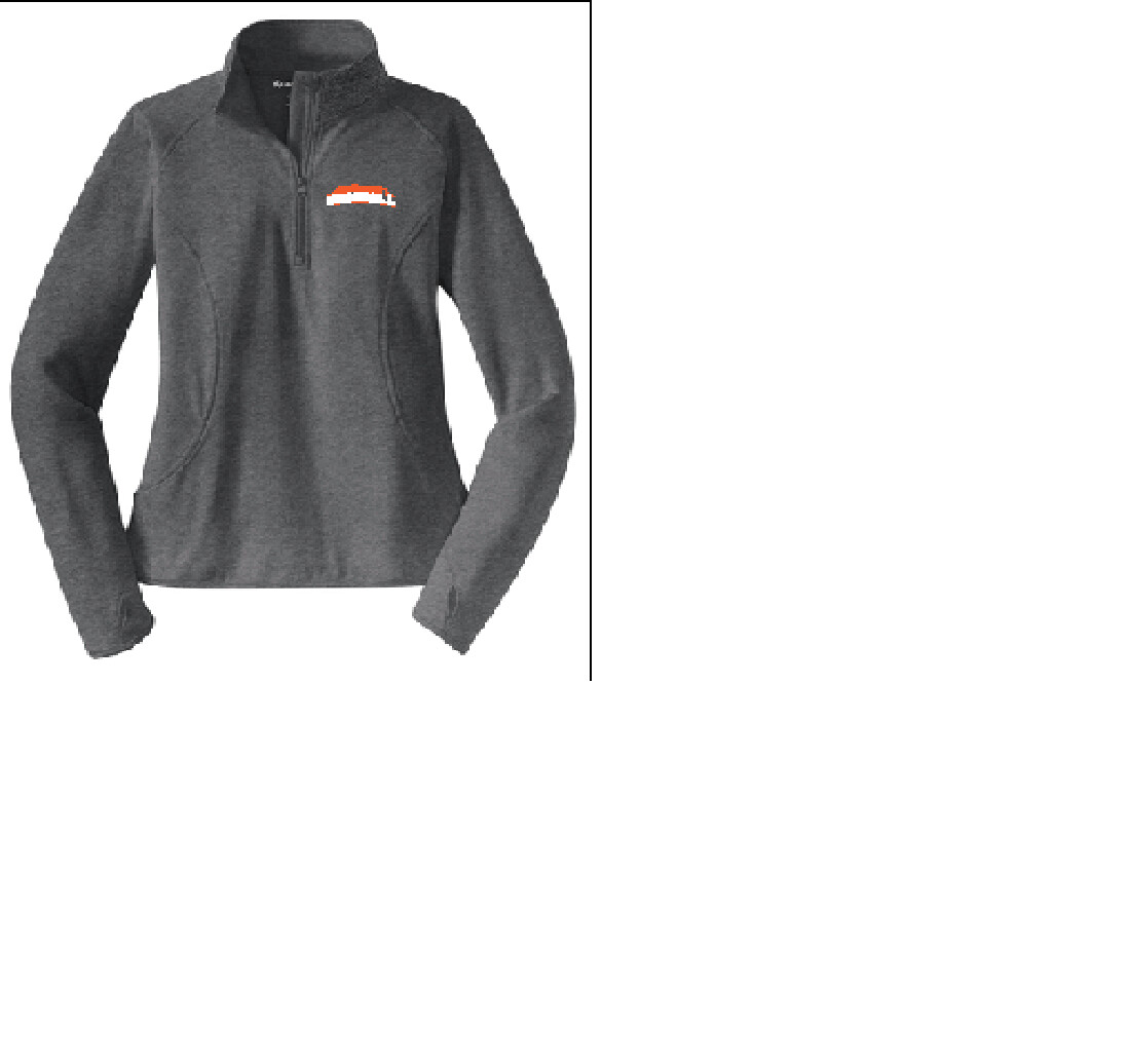 LST850 Sport-Tek Ladies Stretch 1/2 Zip Pullover Spring Sports