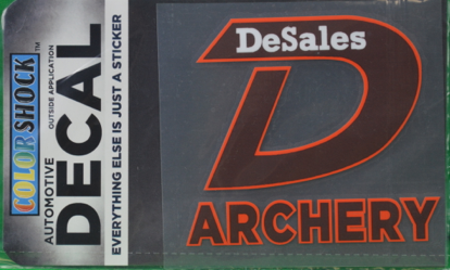 """D"" Archery Decal -620"
