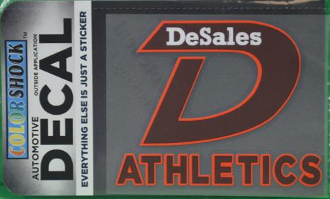 """D"" Athletics Decal-669"