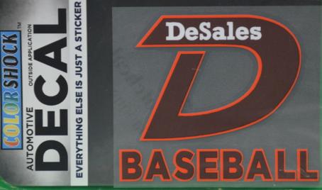 """""""D"""" Baseball Decal -622"""