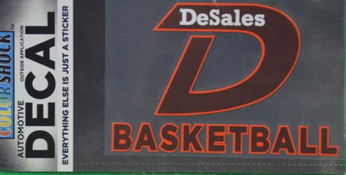 """""""D"""" Basketball Decals -615"""