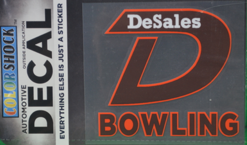 """D"" Bowling Decal -621"