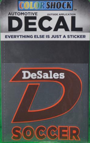 """D"" Soccer Decals -614"