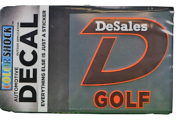 """""""D"""" Golf Decal -619"""