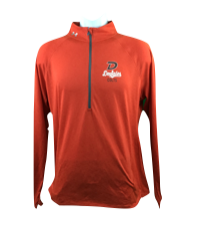 Ladies UA 1/4 Zip - Orange 521