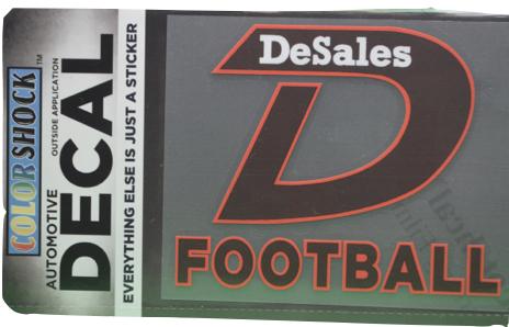"""D"" Football Decal -611"