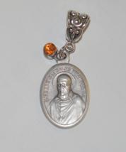St Francis DeSales Jewel Prayer Medal-723