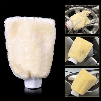 Soft Artificial Wool Car Wash Mitten