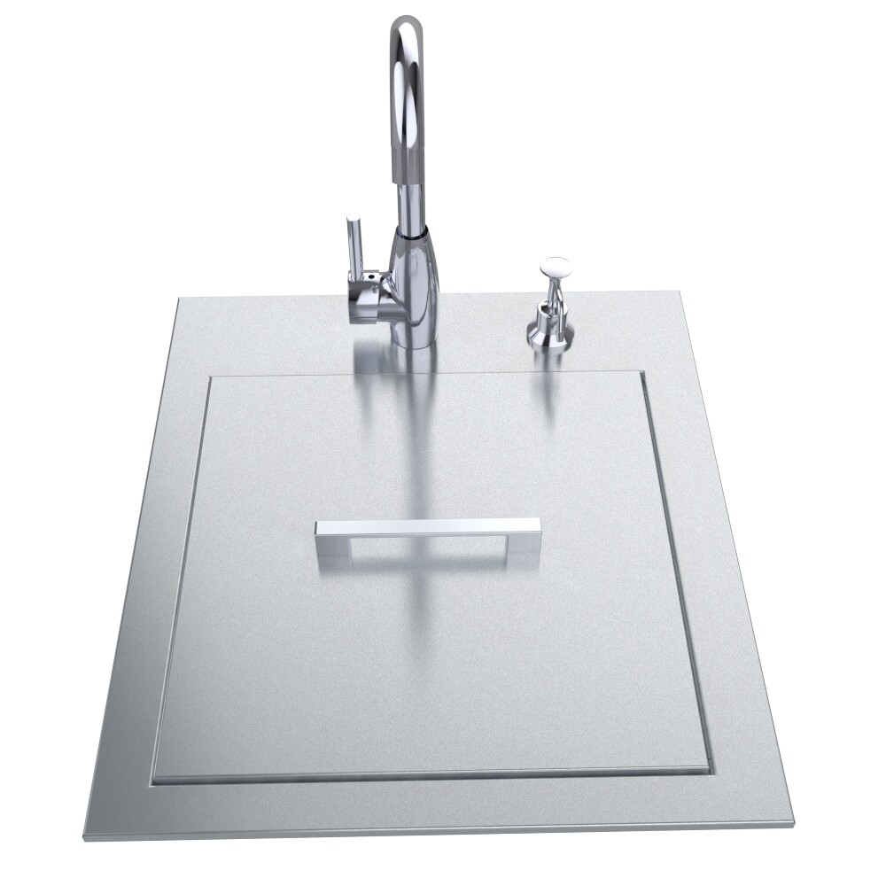 "20"" ADA Compliant Sink with Cover & Hot/Cold Faucet Item No.ADASK20"