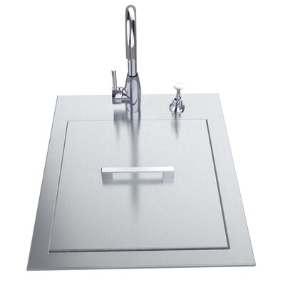 """20"""" ADA Compliant Sink with Cover & Hot/Cold Faucet Item No.ADASK20"""