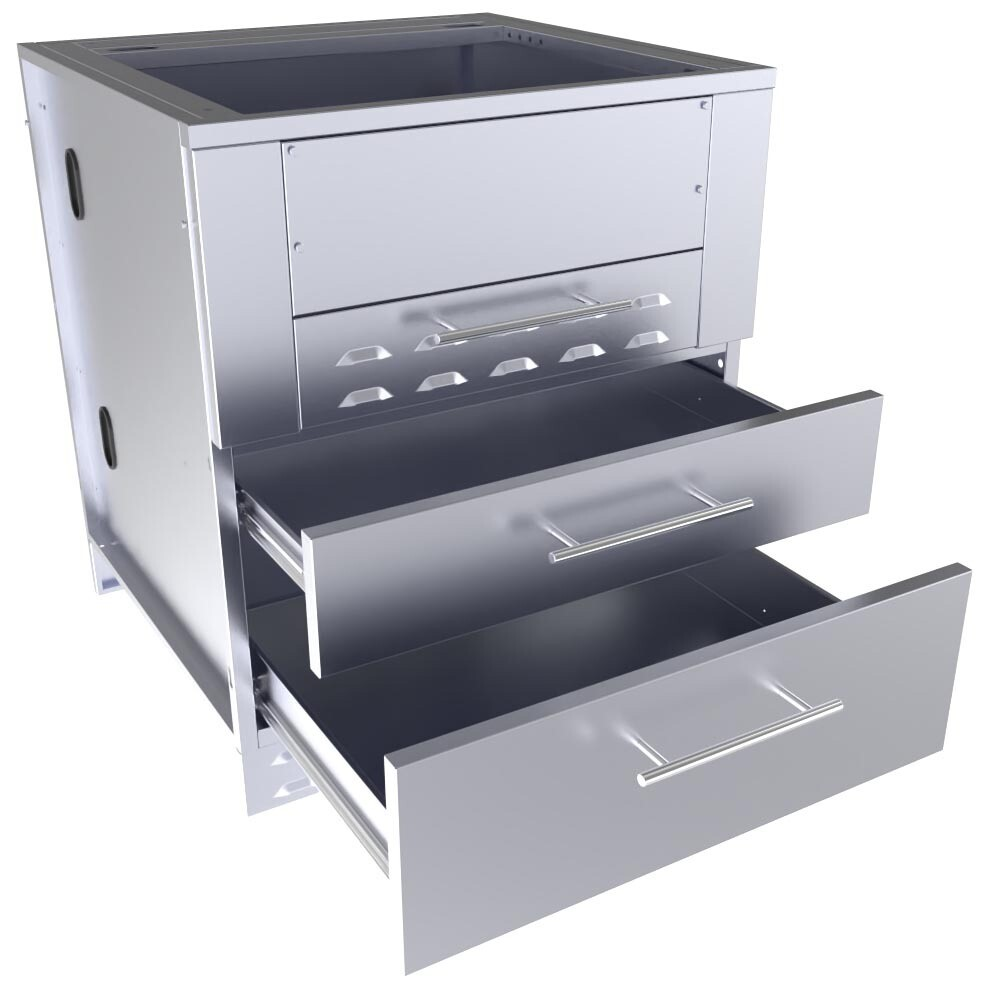 "30"" Kamado Hybrid Grill Base Cabinet  - Item No. SAC30KBDC"