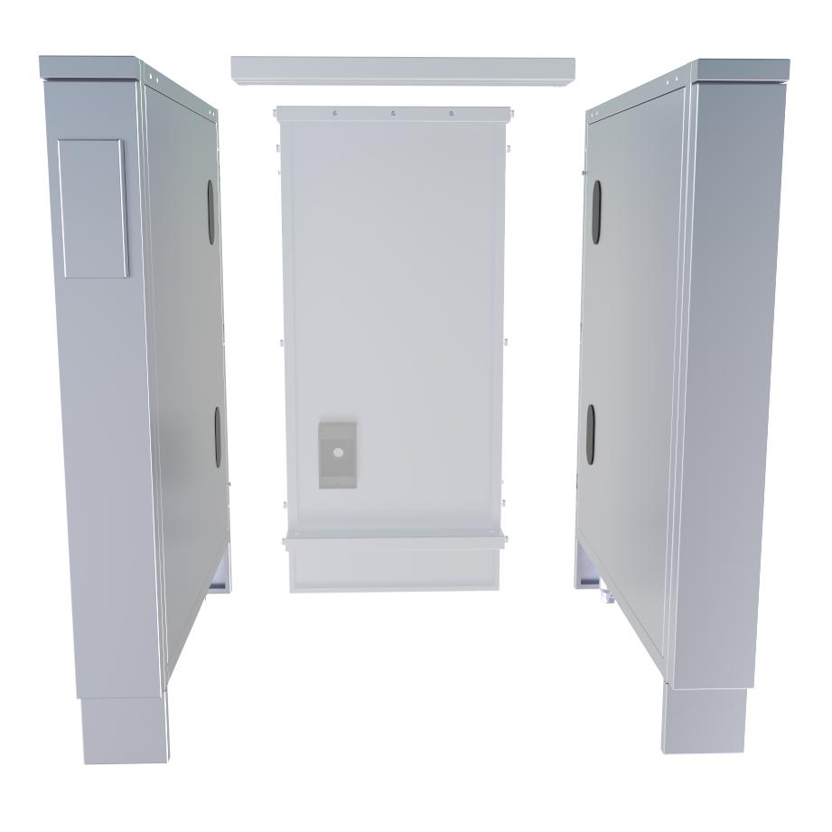 "4"" Combo Left & Right Appliance Partition Panels Package - SCC4SPEL & SCC4SPER"