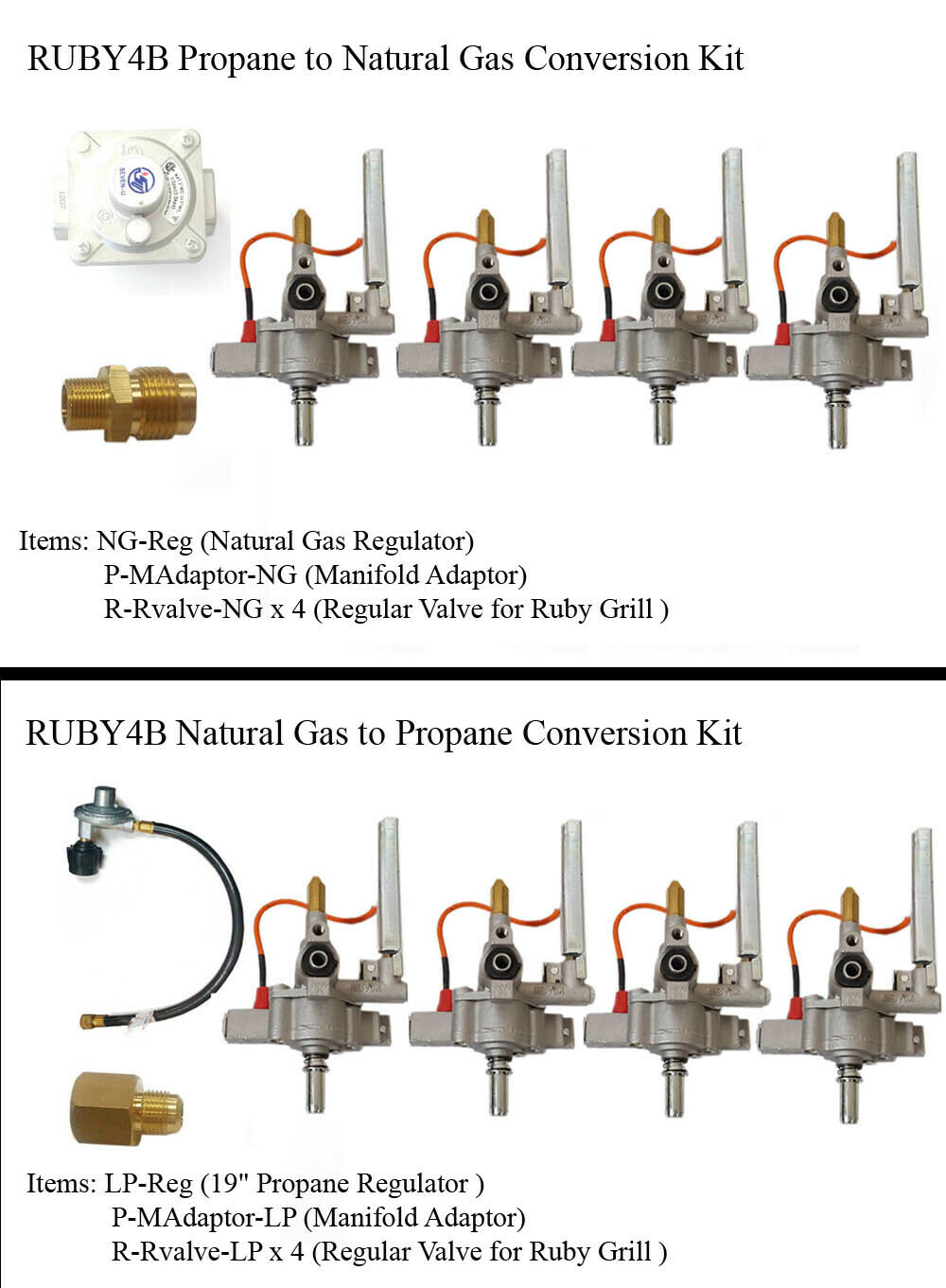 "Conversion Kit for Ruby4B-36"" Gas Grill"