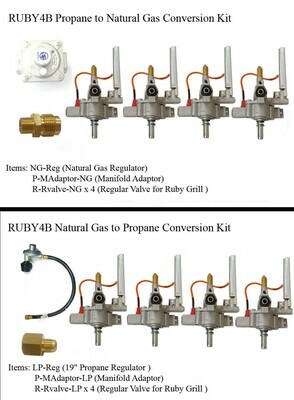"""Conversion Kit for Ruby4BIR -36"""" Gas Grill"""