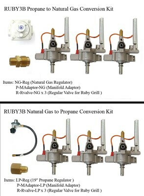 """Conversion Kit for Ruby3B-30"""" Gas Grill"""