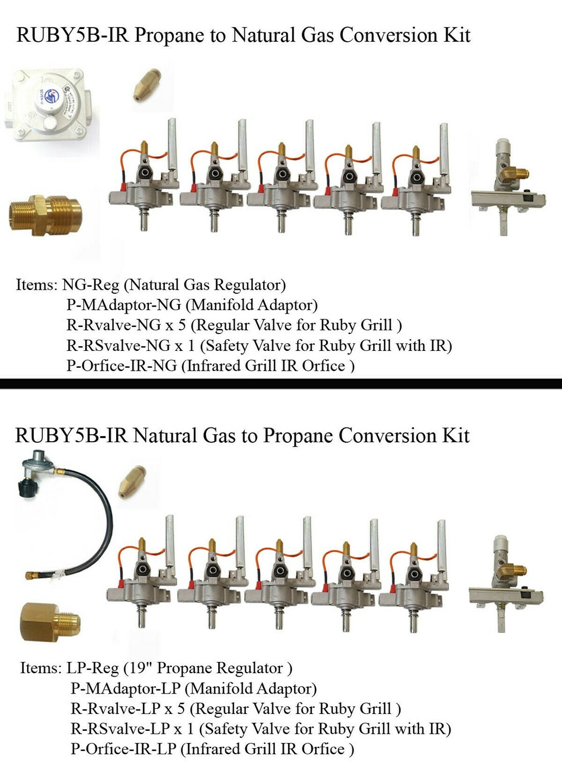 "Conversion Kit for Ruby5BIR -42"" Gas Grill"