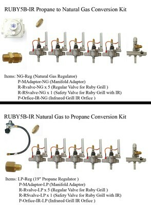"""Conversion Kit for Ruby5BIR -42"""" Gas Grill"""