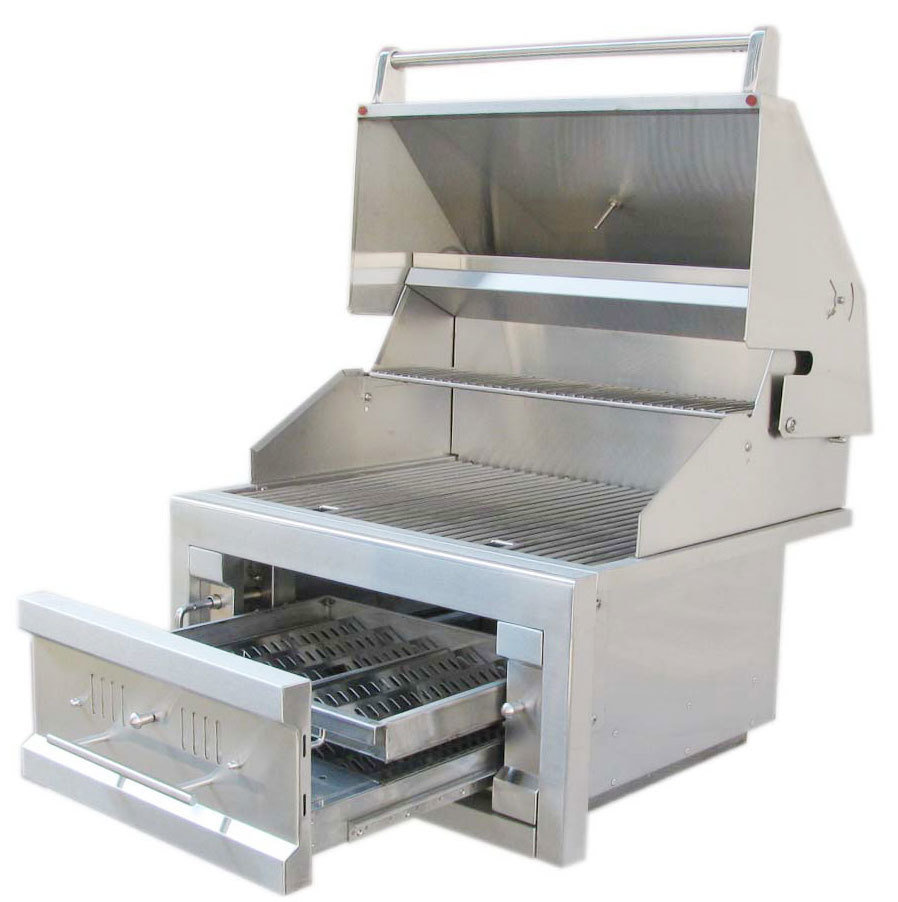 """28"""" Single Zone 304 Stainless Steel Charcoal Grill - Item No. SUNCHDZ28"""