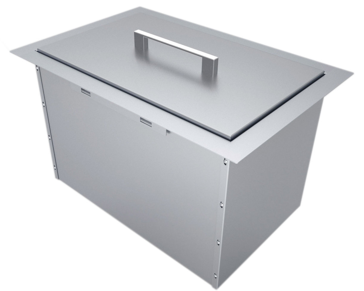 """Over/Under 14"""" x 12"""" Height Single Basin Insulated Wall Ice Chest w/Cover Item No. B-IC14"""