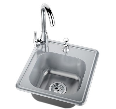 Drop in Single Sink w/Hot & Cold Water Faucet Item No.A-SS17