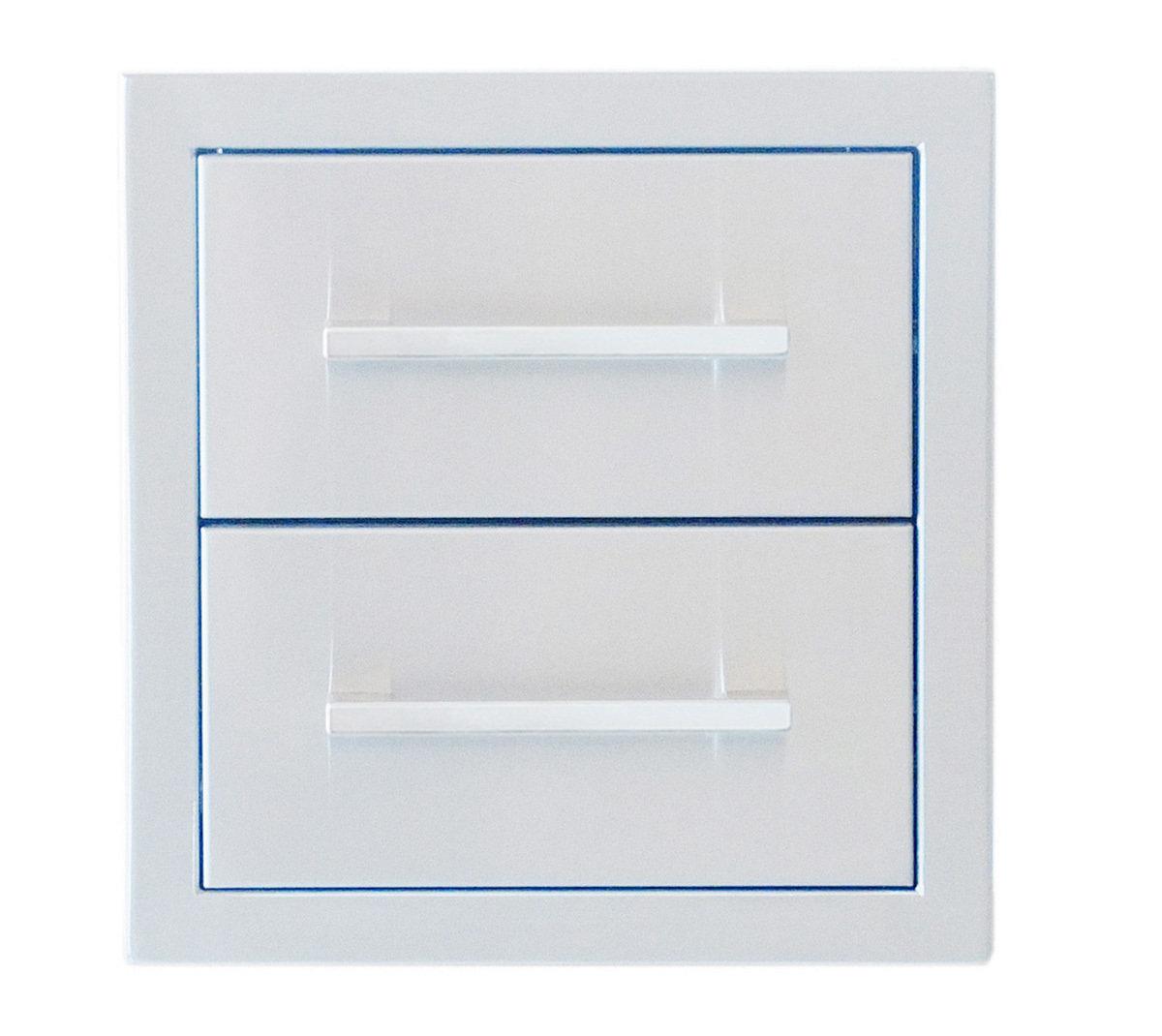 "Signature Series 12"" Beveled Frame Double Drawer - Item No. BA-DD12"